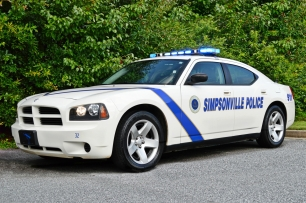 Simpsonville Police Department's 2010 Dodge Charger - Old Decals