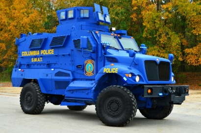Columbia Police Department's MRAP MaxxPro