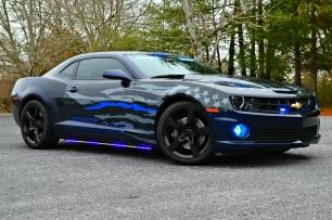 """2014 Chevrolet Camaro SS """"Thin Blue Line"""" Decals"""