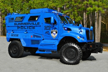 Summerville Police Department's MRAP MaxxPro