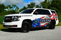"Osceola County Sheriff's Office 2018 Chevrolet Tahoe - ""D.U.I. Enforcement M.A.D.D. Decals"" (Florida)"