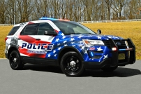 Christiansburg Police Department's 2019 Ford Utility - Veteran Decals (Virginia)